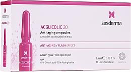 Parfüm, Parfüméria, kozmetikum ampulla glikolsavval öregedés ellen - SesDerma Laboratories Acglicolic Anti-Aging Flash Effect Ampoules
