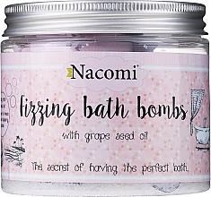 Parfüm, Parfüméria, kozmetikum Fürdőbomba szett - Nacomi Fizzing Bath Bomb With Grape Seed Oil (bomb/4db)