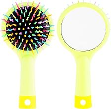 Parfüm, Parfüméria, kozmetikum Hajkefe tükörrel, salátazöld - Twish Handy Hair Brush with Mirror Spring Bud