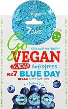"""Parfüm, Parfüméria, kozmetikum Szövet arcmaszk """"Blue Day"""" - 7 Days Go Vegan Sunday Blue Day"""