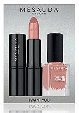 Parfüm, Parfüméria, kozmetikum Szett - Mesauda Milano I Want You Kit (lipstick/3.5g + nail polish/10ml) (Gothicfull)