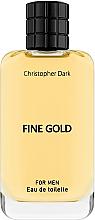 Parfüm, Parfüméria, kozmetikum Christopher Dark Fine Gold - Eau de toilette