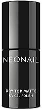 Parfüm, Parfüméria, kozmetikum Fedő gél lakk, matt hatás - NeoNail Professional Dry Top Matte
