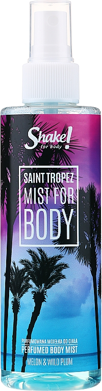 Shake for Body Perfumed Body Mist Saint Tropez Melon & Wild Plum - Parfüm testpermet