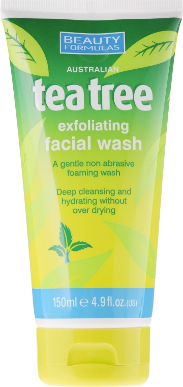 "Arclemosó gél ""Teafa olaj"" - Beauty Formulas Tea Tree Exfoliating Facial Wash"