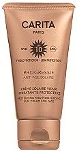 Parfüm, Parfüméria, kozmetikum Napvédő arckrém SPF 10 - Carita Progressif Anti-Age Solaire Protecting And Moisturising Sun Cream For Face