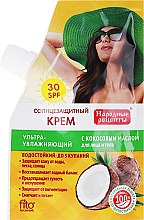 Parfüm, Parfüméria, kozmetikum Napvédő krém kókusz olajjal SPF30 - Fito kozmetikum Népi receptek