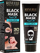"Parfüm, Parfüméria, kozmetikum Fekete arcmaszk ""Hialuron"" - Revuele Black Mask Peel Off Hyaluron"