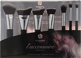 Parfüm, Parfüméria, kozmetikum Sminkecset szett, 7 db - LP Makeup Set Of Seven Professional Brushes L'accessoire With Leather Bag
