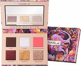 Parfüm, Parfüméria, kozmetikum Szemhéjfesték paletta - Nabla Cutie Collection Palette Metropolitan