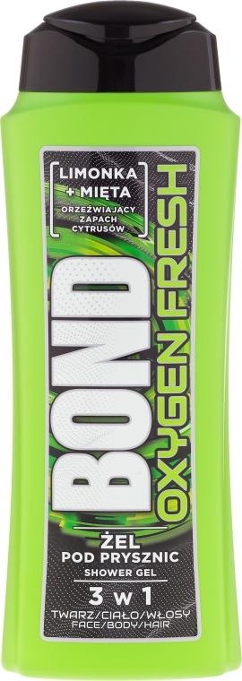 Tusfürdő gél 3 az 1-ben - Bond Oxygen Fresh Shower Gel