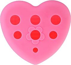 Parfüm, Parfüméria, kozmetikum Szilikon kefe sminkecsetek tisztításához és szárításához alátéttel, rózsaszín - Lash Brow