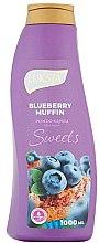 Parfüm, Parfüméria, kozmetikum Fürdőhab - Luksja Sweets Blueberry Muffin Bath Foam