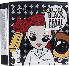 Parfüm, Parfüméria, kozmetikum Szemtapasz arany és fekete gyöngyökkel - Dewytree Real Gold Black Pearls Eye Patch