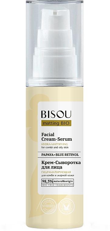 """Krém-szérum arcra """"Hidromattítás"""" - Bisou Matting Bio Facial Cream Serum"""