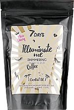 Parfüm, Parfüméria, kozmetikum Csillámló kávé testradír - 7 Days Illuminate Me Miss Crazy Coffee Shimmering Body Scrub