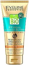 Parfüm, Parfüméria, kozmetikum Helyreállító krém-maszk kézre és körmökre - Eveline Cosmetics Bio Aragan & Cocoa Butter Regenerating Hand Cream Mask