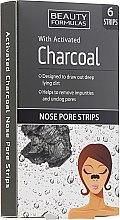 Parfüm, Parfüméria, kozmetikum Pórustisztító tapasz orra aktív szénnel - Beauty Formulas With Activated Charcoal Nose Pore Strips