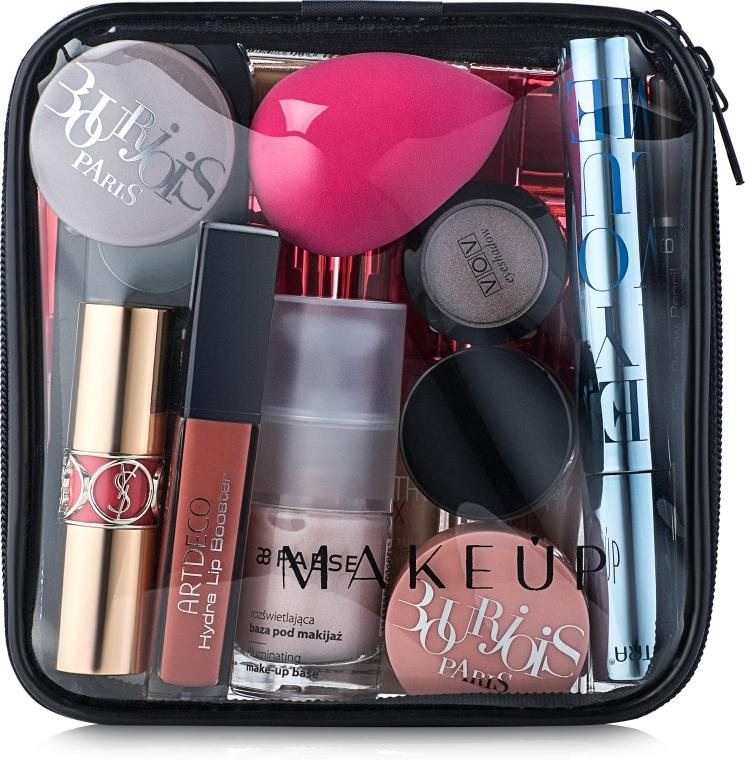 """Neszeszer, átlátszó """"Visible Bag"""" (kozmetikumok nélkül) 15x15x5cm - MakeUp"""