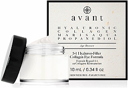 Parfüm, Parfüméria, kozmetikum Szemkörnyékápoló krém 3 az 1 -ben hialuronsavval - Avant Skincare 3-1 Hyaluron-Filler Collagen Eye Formula