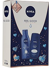 Parfüm, Parfüméria, kozmetikum Szett - Nivea Feel Good (sh/gel/250ml + b/milk/250ml)