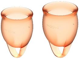 Parfüm, Parfüméria, kozmetikum Menstruációs kehely készlet, narancssárga - Satisfyer Feel Confident Menstrual Cups Orange
