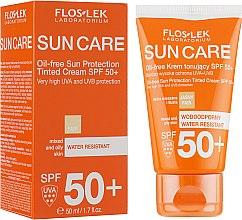 Parfüm, Parfüméria, kozmetikum Tonizáló napvédő krém zsíros és kombinált bőrre SPF 50 - Floslek Sun Protection Cream SPF50+