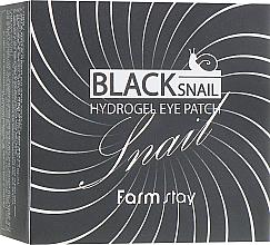 Parfüm, Parfüméria, kozmetikum Hidrogél szemtapasz fekete csigamucinnal - FarmStay Black Snail Hydrogel Eye Patch