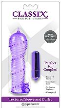 Parfüm, Parfüméria, kozmetikum Készlet pároknak, lila - Pipedream Classix Textured Sleeve & Bullet