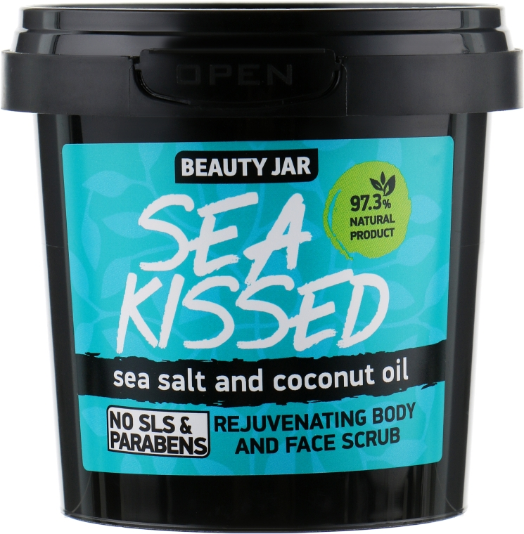 "Arc- és bőrradír ""Sea Kissed"" - Beauty Jar Rejuvenating Body And Face Scrub"