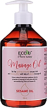 Parfüm, Parfüméria, kozmetikum Masszázsolaj - Eco U Massage Oil Sesame Oil