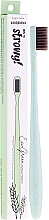 Parfüm, Parfüméria, kozmetikum Búza fogkefe, félkemény - WoodyBamboo Toothbrush EcoGreen Medium