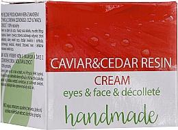 Parfüm, Parfüméria, kozmetikum Szem-, arc- és dekoltázskrém kaviár kivonattal és cédrusfa gyantával - Hristina Cosmetics Handmade Caviar & Cedar Resin Cream