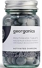 """Parfüm, Parfüméria, kozmetikum Szájöblítő tabletta """"Aktív szén"""" - Georganics Mouthwash Tablets Activated Charcoal"""