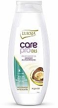 "Parfüm, Parfüméria, kozmetikum Tusfürdő ""Argán olaj"" - Luksja Care Pro Oils Creamy Shower Gel"