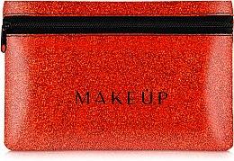 """Parfüm, Parfüméria, kozmetikum Szilikon neszeszer, piros """"Glitter Pouch"""", 18x11cm - MakeUp"""