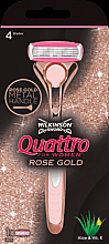 Parfüm, Parfüméria, kozmetikum Tartalék penge +1 - Wilkinson Sword Quattro for Women Rose Gold