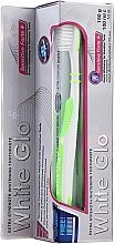 Parfüm, Parfüméria, kozmetikum Készlet salátazöld fogkefével - White Glo Sensitive Forte Set (toothpaste/100ml + toothbrush/1pc + t/pick/8pc)