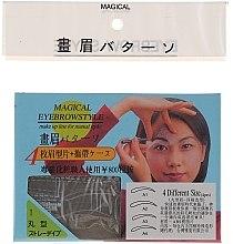 Parfüm, Parfüméria, kozmetikum Szemöldökformázó sablon, méret A1, A2, A3, A4 - Magical Eyebrow Style