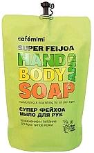 """Parfüm, Parfüméria, kozmetikum Folyékony kézmosó szappan """"Szuper mirtuszdió"""" - Cafe Mimi Super Feijoa Hand And Body Soap (utántöltő)"""