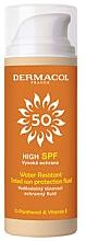 Parfüm, Parfüméria, kozmetikum Vízálló napvédő tonizáló fluid - Dermacol Sun Tinted Water Resistant Fluid SPF50