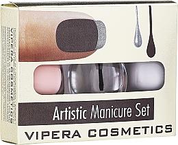 Parfüm, Parfüméria, kozmetikum Lakk készlet - Vipera Artistic Manicure Set (nail/pol/3x5,5ml) (01 -Cute French)