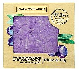 """Parfüm, Parfüméria, kozmetikum Szilárd sampon-kondicionáló """"Szilva és füge"""" - Stara Mydlarnia Plum & Fig 2in1 Shampoo Bar"""