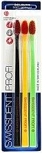 Parfüm, Parfüméria, kozmetikum Fogkefe szett, közepes, fekete+sárga+zöld - SWISSDENT Profi Colours Soft-Medium Trio-Pack