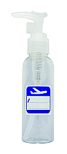 Parfüm, Parfüméria, kozmetikum Műanyag kozmetikai üvegcse adagoló pumpával, 100ml, fehér - Inter-Vion