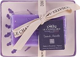 Parfüm, Parfüméria, kozmetikum Természetes szappan kerámia szappantartóval - Le Chatelard Lavande Soap