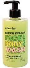 """Parfüm, Parfüméria, kozmetikum Tusfürdő """"Szuper mirtuszdió"""" - Cafe Mimi Super Feijoa Face And Body Wash"""