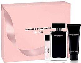 Parfüm, Parfüméria, kozmetikum Narciso Rodriguez For Her - Szett (edt/100ml + edt/10ml + b/lot/75ml)