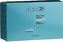 Parfüm, Parfüméria, kozmetikum Hajegyenesítő ampulla rakoncátlan és göndör hajra - Black Professional Line Anti-Frizz