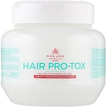 Parfüm, Parfüméria, kozmetikum Hajmaszk keratinnal, kollagénnel és hialuronsavval - Kallos Cosmetics Pro-Tox Hair Mask